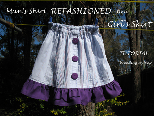 Cute Button Shirt To Skirt Favecrafts Com