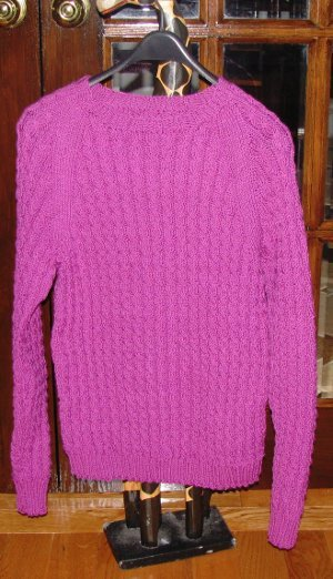 Cable Twist Raglan Sweater