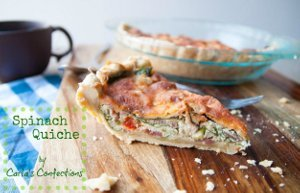 Spinach Quiche with Bacon