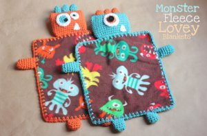 Monster Fleece and Crocheted Blankets