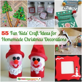 55 fun kids 39 craft ideas for homemade christmas for Funny diy christmas decorations