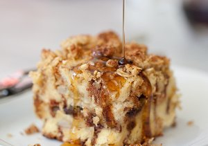 Banana and Chocolate Chip Baked French Toast