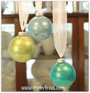 Glitter Filled Ornaments