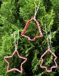 Cookie Cutter Ornaments with Ribbon