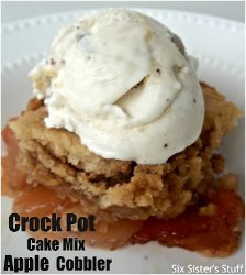 Slow Cooker Cake Mix Apple Cobbler