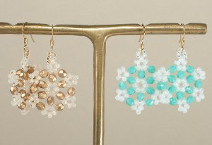 Beautiful Beaded Snowflake Earrings