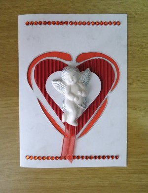 Valentine's Day Angel Card