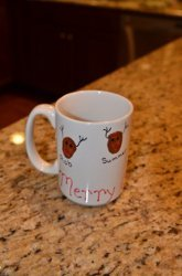 Thumbprint Reindeer Coffee Mug