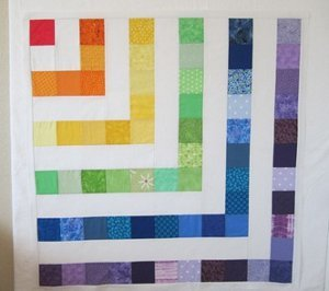Zippy Rainbow Baby Quilt