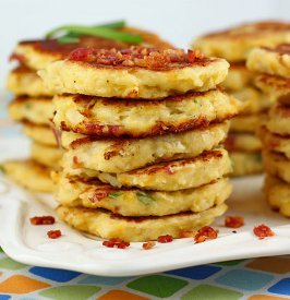 Cheesy Bacon Fritters