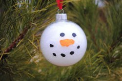 Snowball Snowman Ornament
