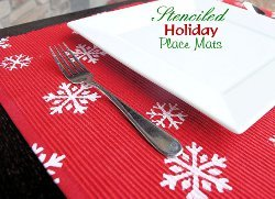 Stenciled Design Placemats