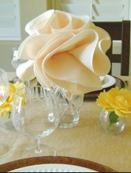 Flower Shaped Napkins