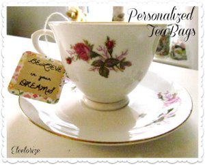 Personalized Message Tea Bags