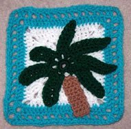 Palm Tree Granny Square