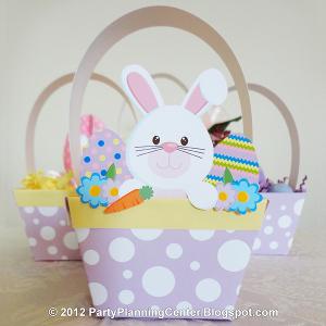 photo relating to Easter Basket Printable known as Printable Paper Easter Basket