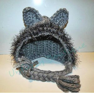 This Fuzzy Wolf Bonnet is great for anyone of all ages. Crochet  instructions are provided for newborns to adults. Lion Brand Fun Fur yarn  is used to get ... 5750cba682b