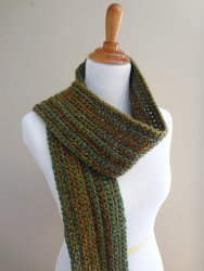 Wise Oak Ribbed Scarf