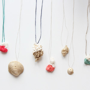 DIY Dipped Shell Necklace AllFreeKidsCrafts