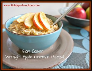 Overnight Apple Cinnamon Oatmeal