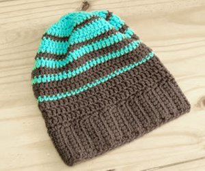 Striped Hipster Slouchy Beanie  f368fb38062