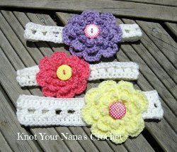 Easy Puff Stitch Headband