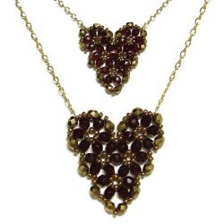 Pretty Beaded Heart Pendant Pattern
