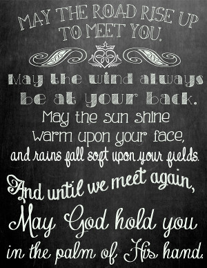 Chalkboard Irish Blessing