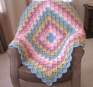 V Stitch Crochet Blanket Border