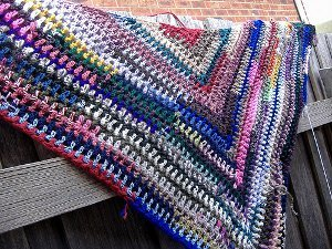 Simple Triangle Shawl Allfreecrochet Com