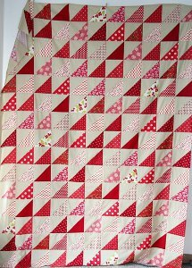Rows of Red Quilt