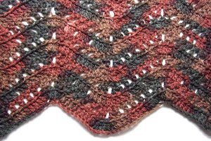 Simple Filet Ripple Afghan Allfreecrochet Com