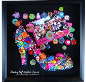 High Heel Button Wall Art
