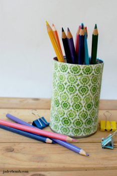 Tin Can Pencil Organizers