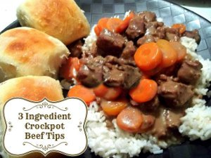 3-Ingredient Beef Tips