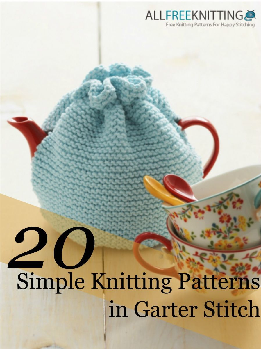 20 Simple Nail Designs For Beginners: 20 Simple Knitting Patterns In Garter Stitch + 5 New