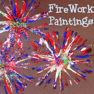Pipe Cleaner Firework Painting Allfreekidscrafts Com