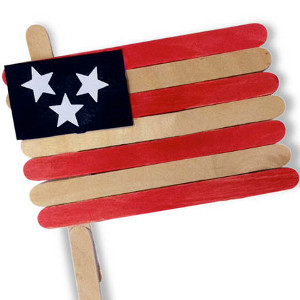 Popsicle Stick American Flag Allfreekidscrafts Com