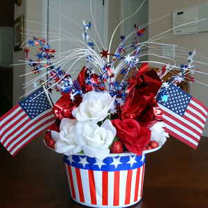 patriotic hat centerpiece favecraftscom