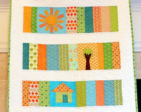 Sunshine Slice Of Life Baby Quilt Favequilts Com