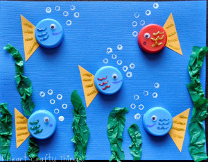 Bottle Cap Fishies Allfreekidscrafts Com