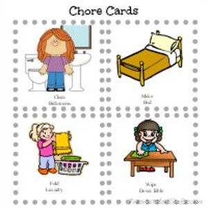 photo relating to Printable Picture Chore Cards named Printable Cleansing Chore Playing cards