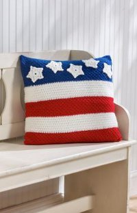Stars And Stripes Pillow Allfreecrochet Com