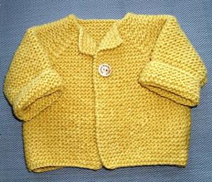 271bb2476ab6a7 Garter Stitch Baby Cardigan
