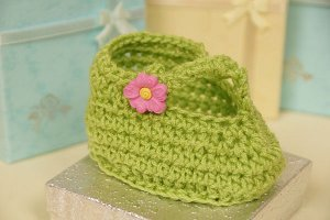 Free Crochet Pattern T Strap Booties : Stylish T-Strap Booties AllFreeCrochet.com