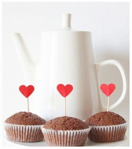 Easy Hearts Cupcake Toppers