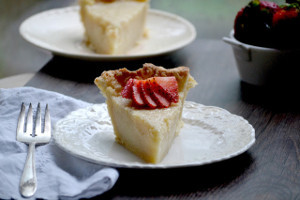 Buttermilk Sugar Cream Pie
