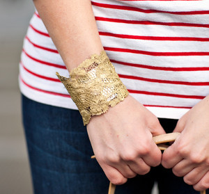 Metallic Lace Cuff