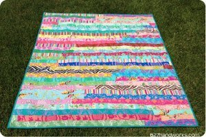 Jelly Roll Race Quilt Favequilts Com