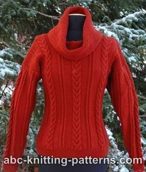Mistletoe Cable Cowl Sweater Allfreeknitting Com